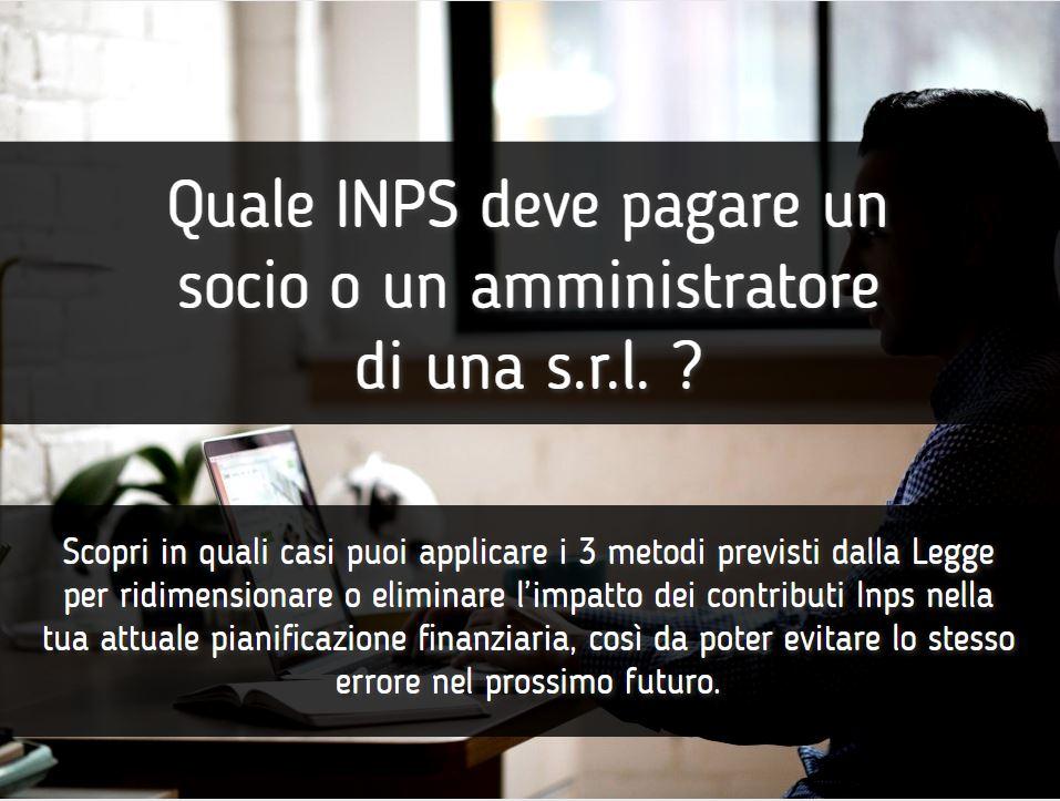 Quale INPS deve pagare un socio o un amministratore di una SRL - FB